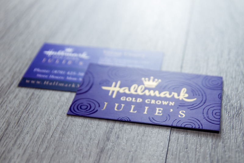 Julie's Hallmak Business Cards