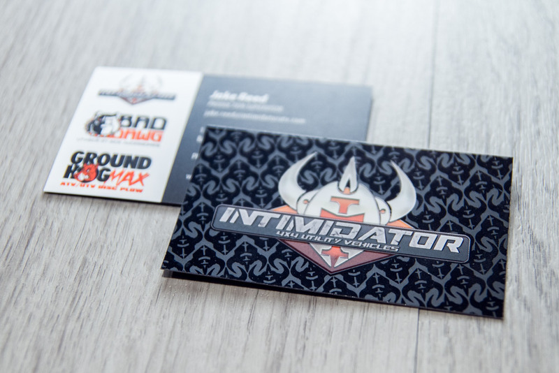 Intimidator Business Cards