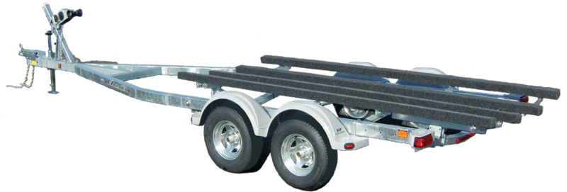 ez loader adjustable boat trailers tandem tezb 23 25 5800