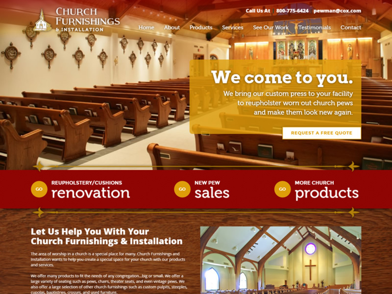 Church Furnishings and Installation