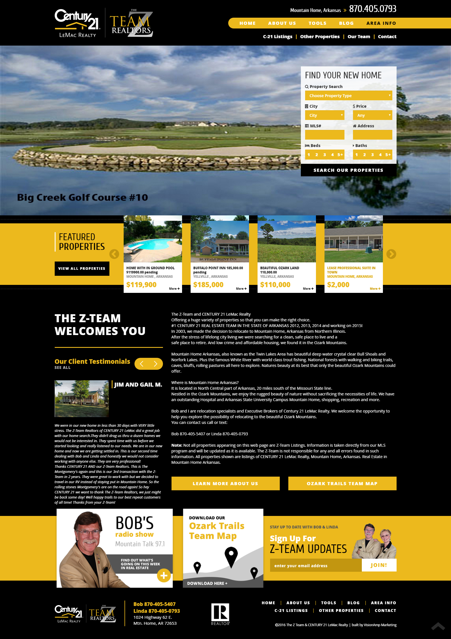 The Z Team Full Web Design Image