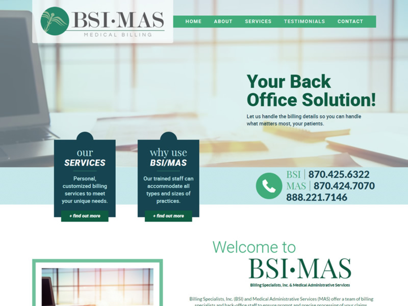 BSI•MAS Billing Specialists