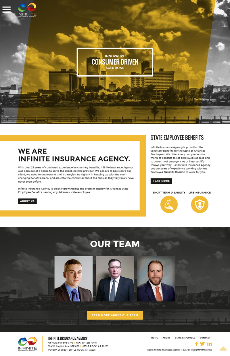Infinite Insurance Agency Full Web Design Image