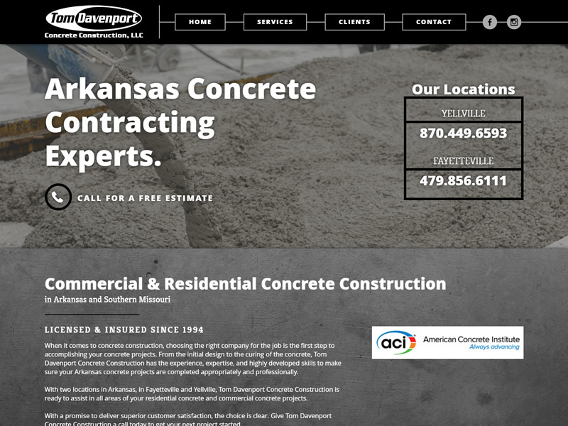 Tom Davenport Concrete