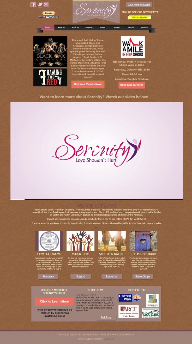 Serenity Full Web Design Image