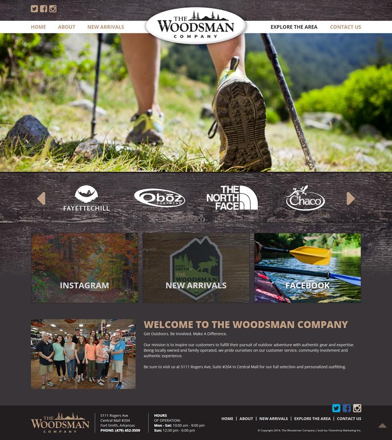 The Woodsman Company Full Web Design Image