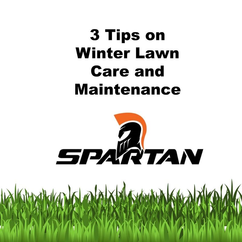 3 tips on winter lawn care and maintenance spartan for Lawn care and maintenance