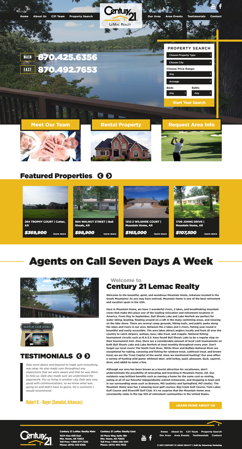 Century 21 LeMac Realty Full Web Design Image