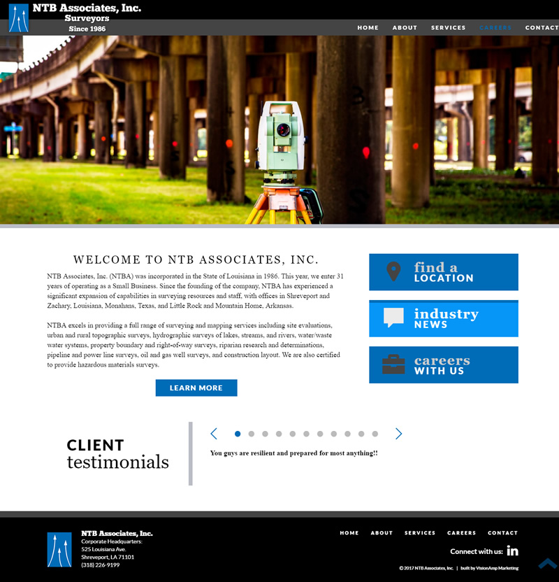 NTB Associates Inc Full Web Design Image