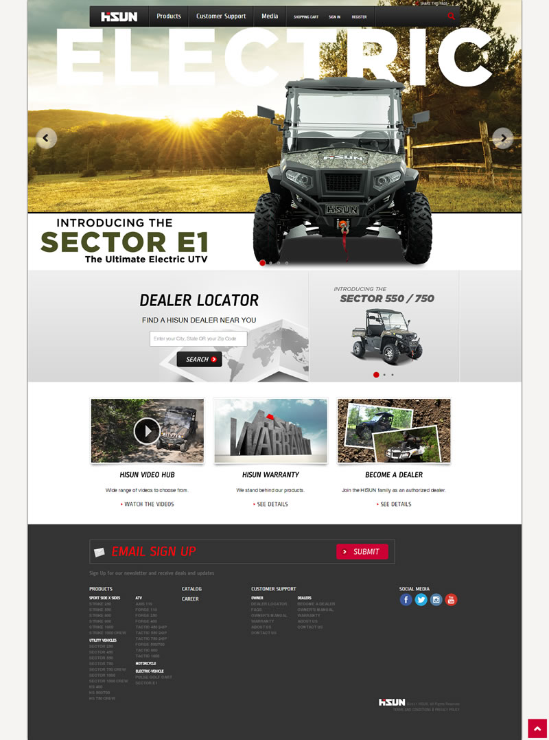 Hisun Motors Corporation Full Web Design Image