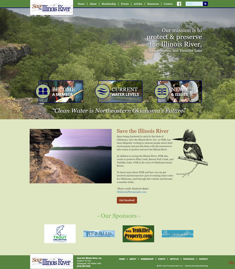 Save the Illinois River Full Web Design Image