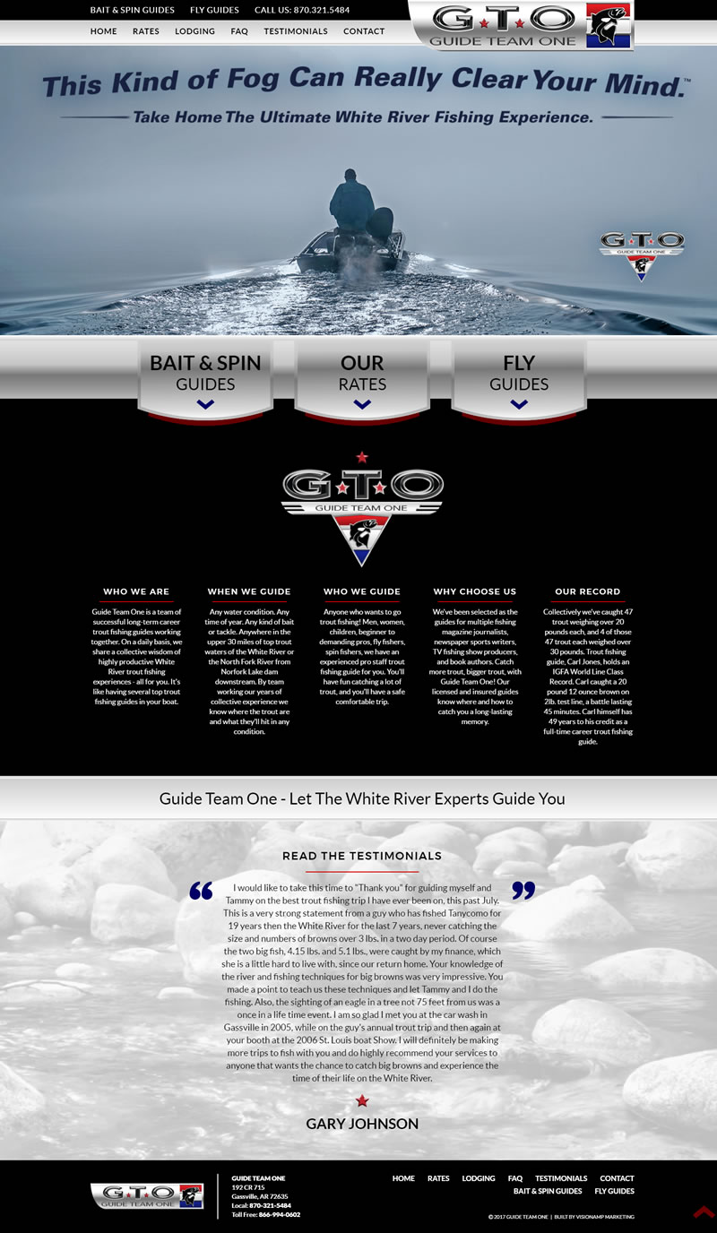 Guide Team One Full Web Design Image