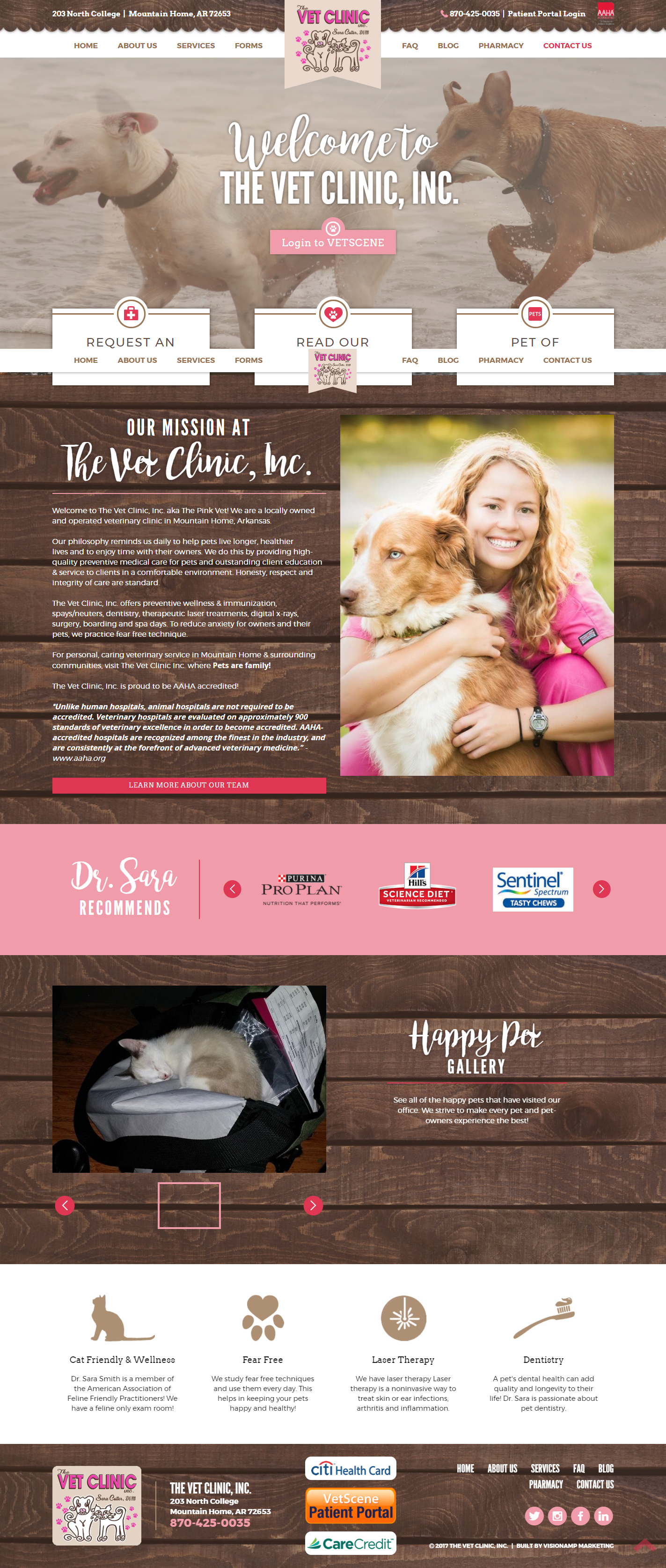 The Vet Clinic Inc Full Web Design Image