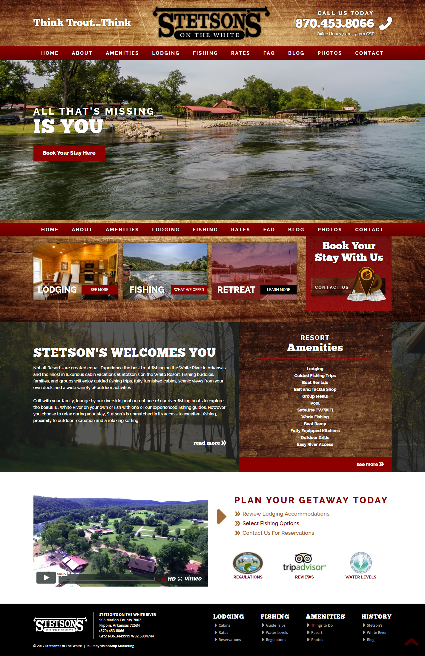 Stetsons on the White Full Web Design Image