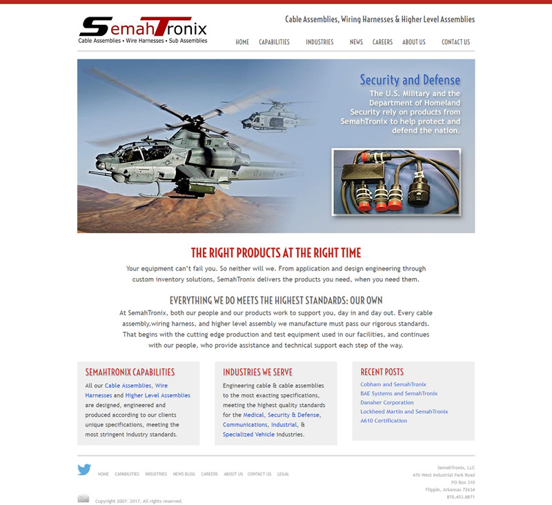SemahTronix Full Web Design Image