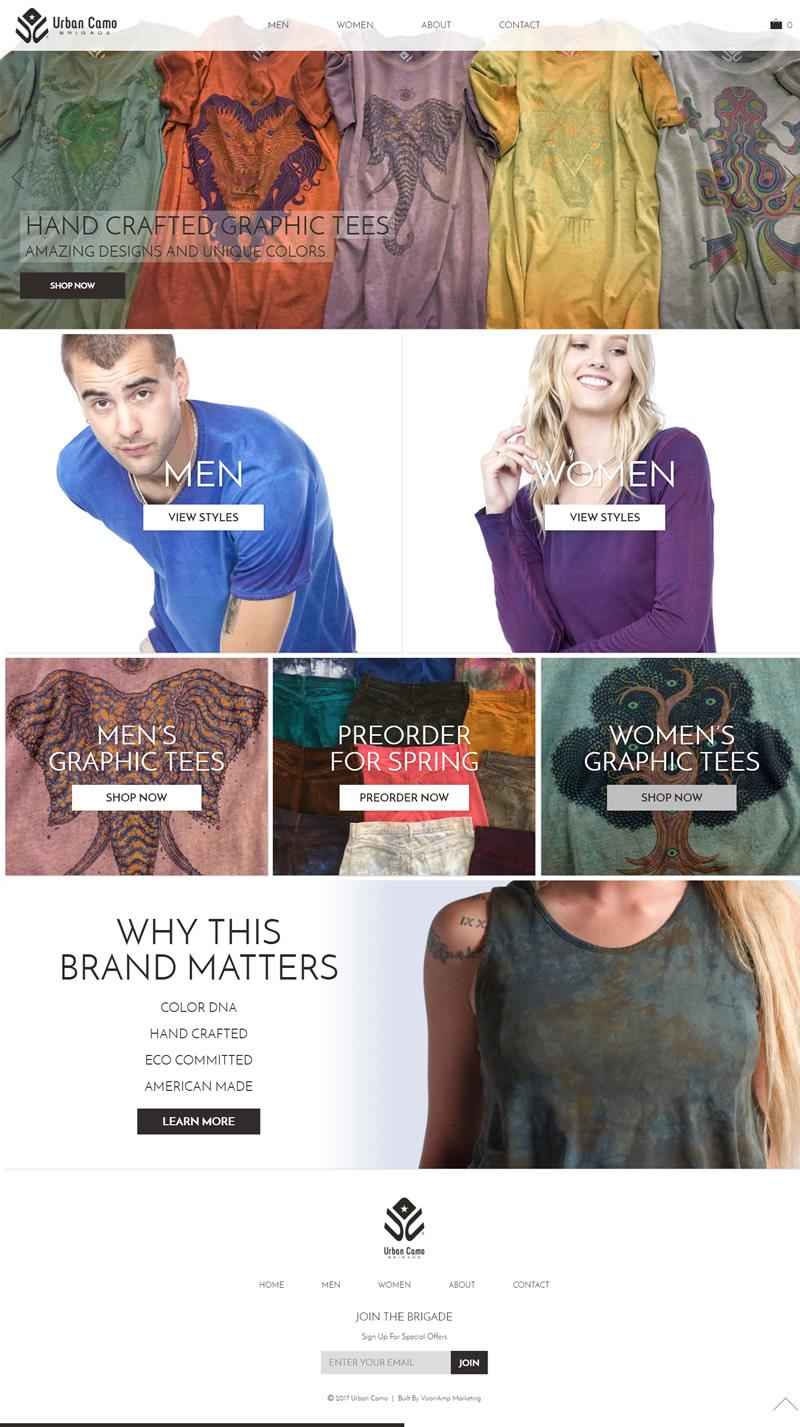 Urban Camo Brigade Full Web Design Image