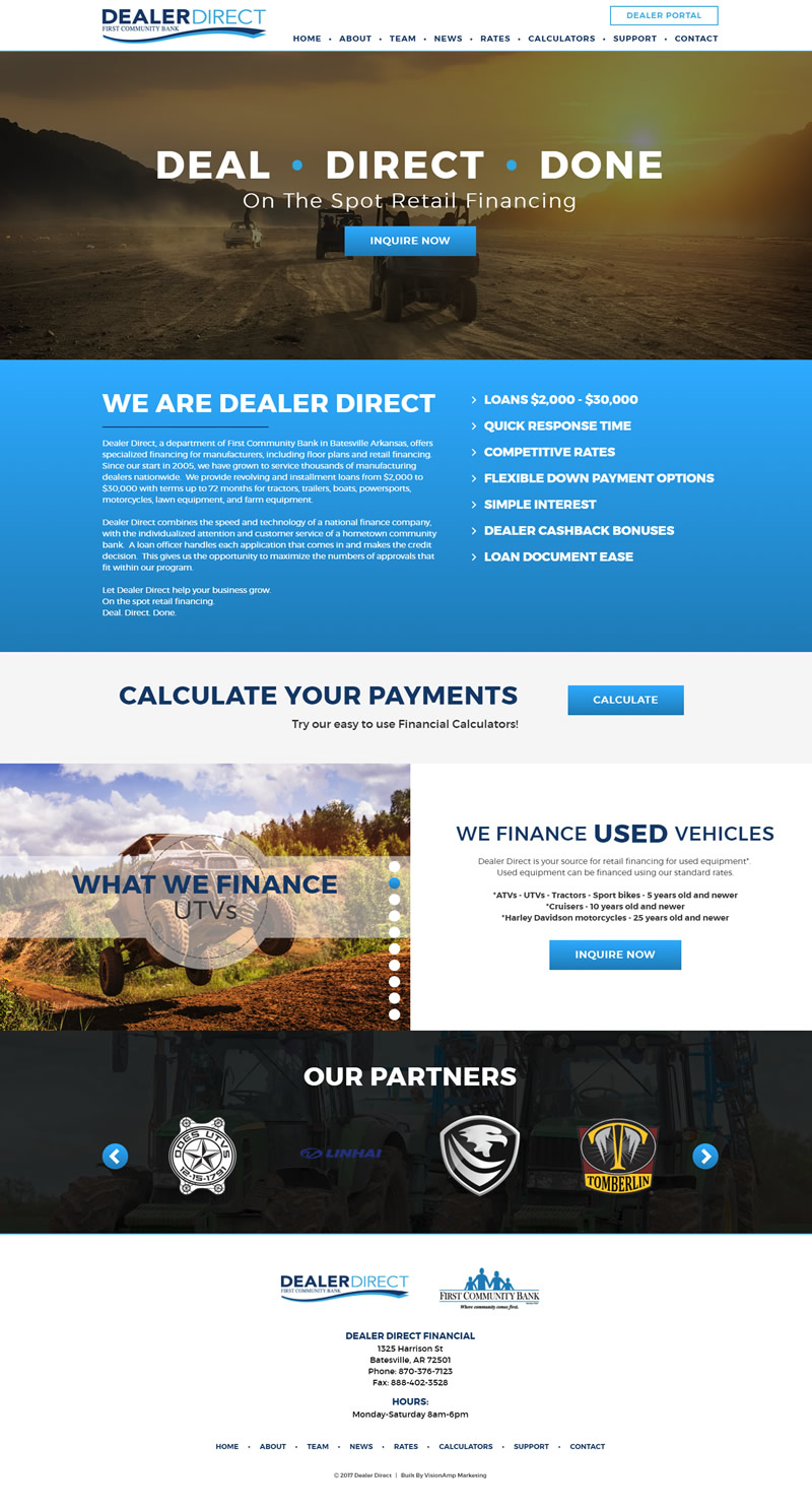 Dealer Direct Full Web Design Image