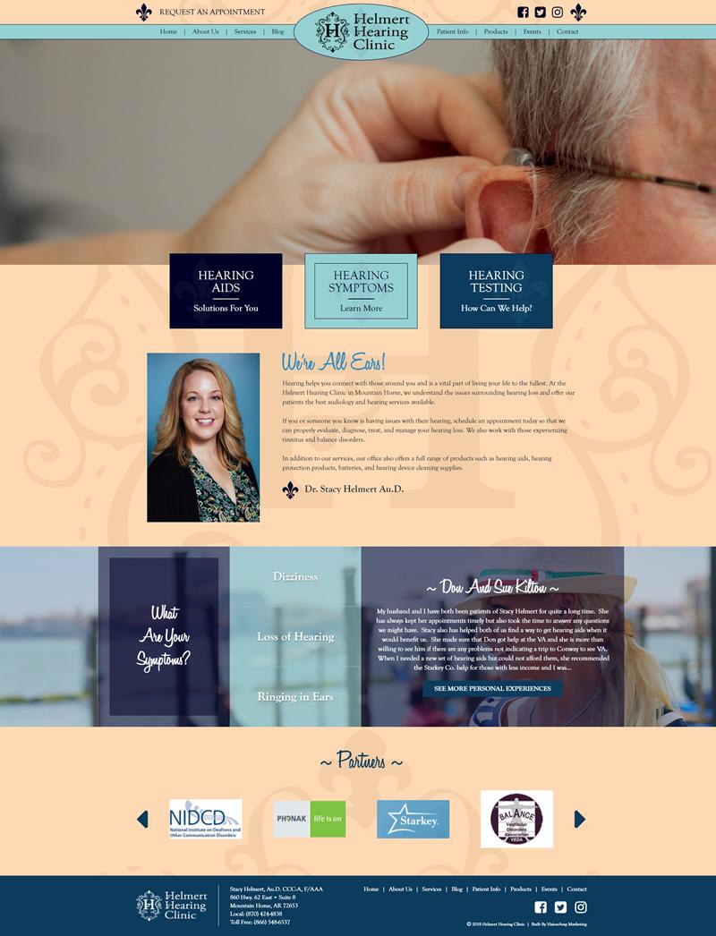 Helmert Hearing Full Web Design Image