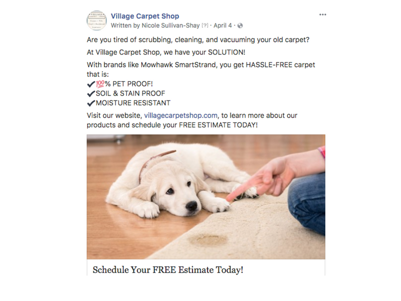 Village Carpet Shop - Social Media
