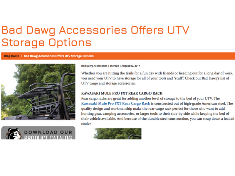 Bad Dawg Accessories - Content Marketing