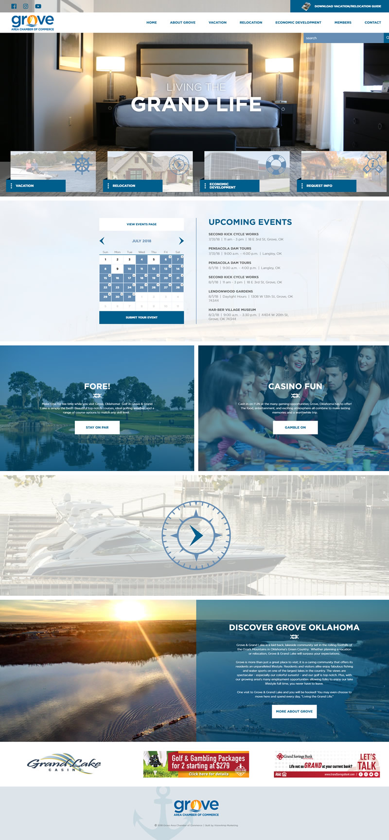 Grove Area Chamber of Commerce Full Web Design Image