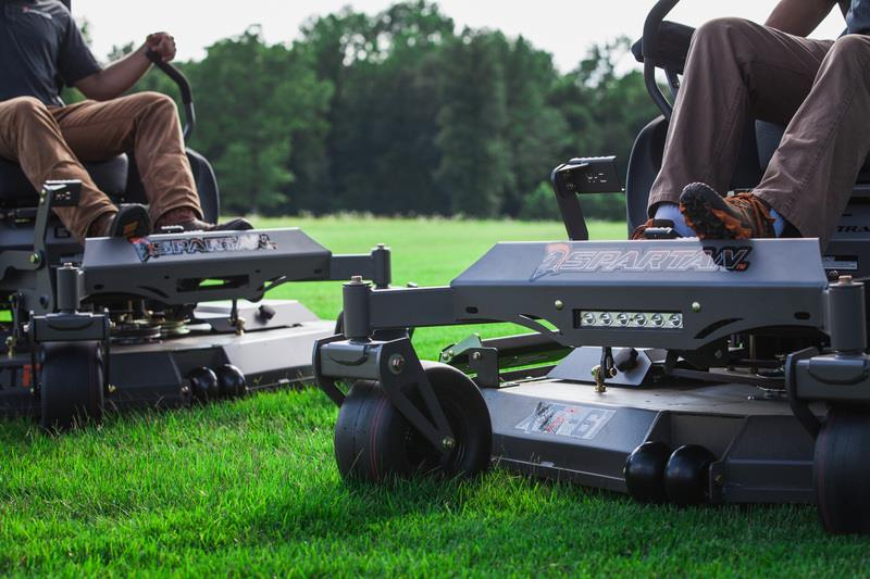 Zero turn mowers last longer.