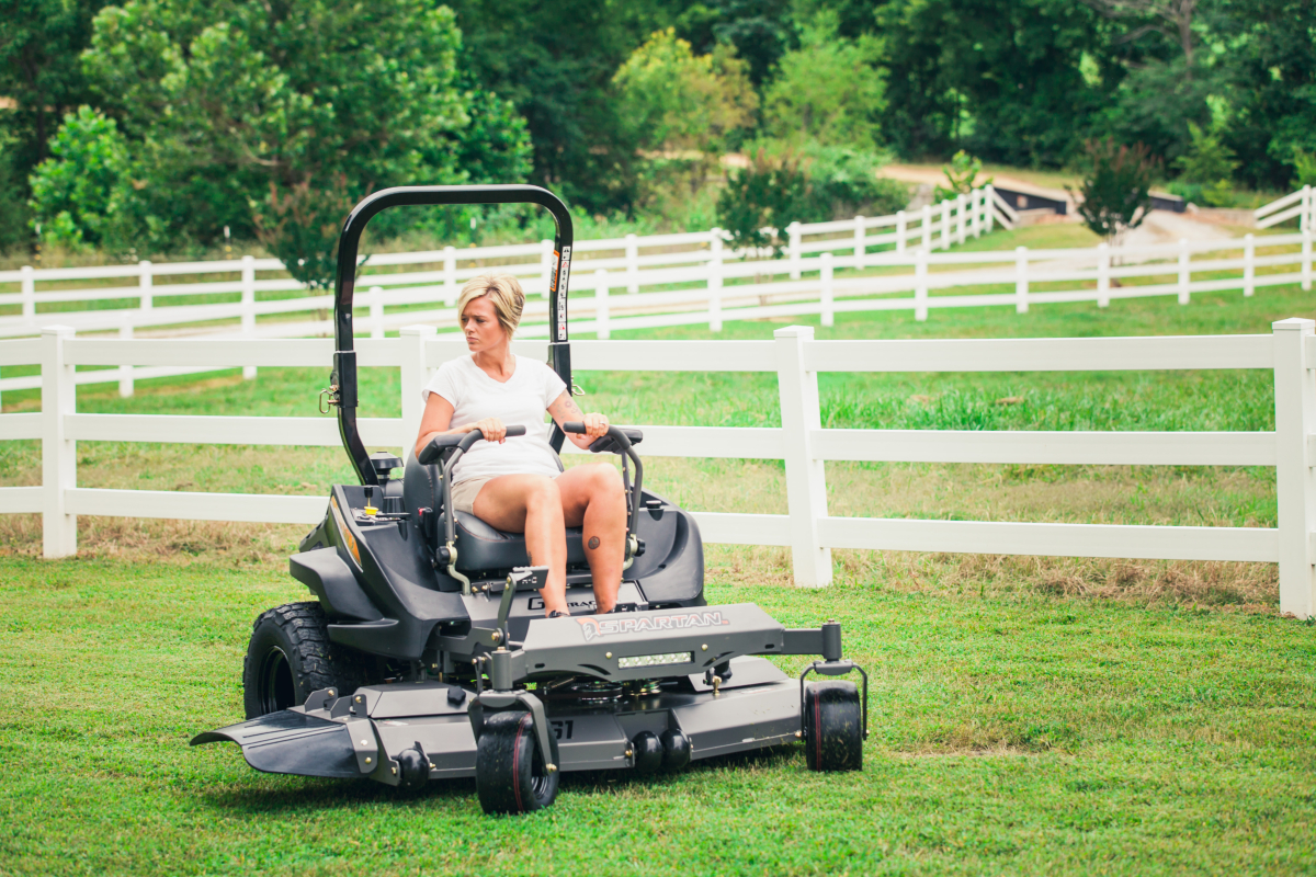 Driving a Spartan Zero Turn Mower