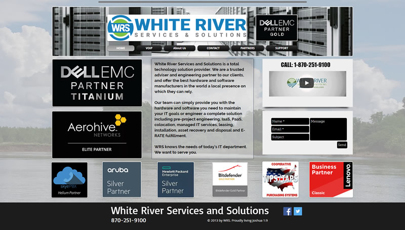 White River Services and Solutions Full Web Design Image