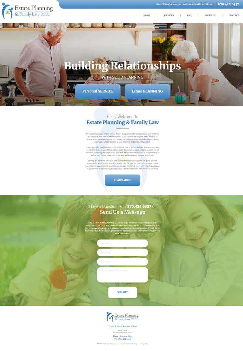Travis Ford Law Full Web Design Image