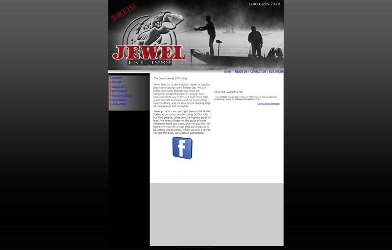 Jewel Bait Full Web Design Image