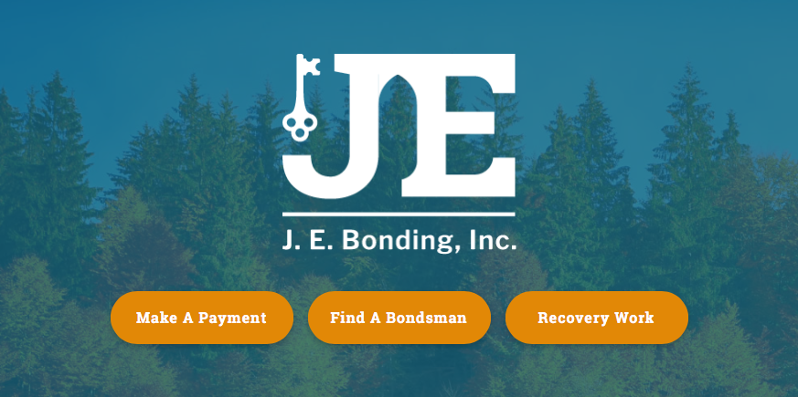 JE and Bryces Bail Bonds Full Web Design Image