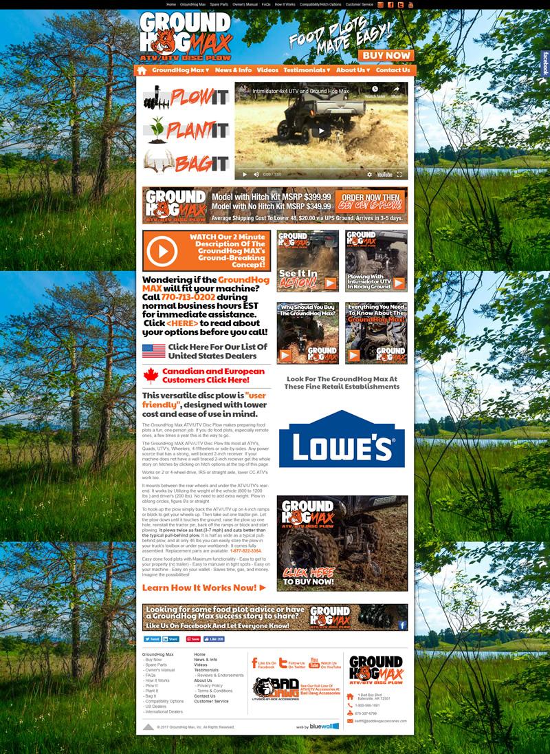 GroundHog MAX Full Web Design Image