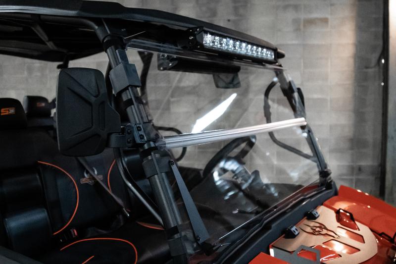 GC1K Folding Windshield/ Light Bar Mount Assembly