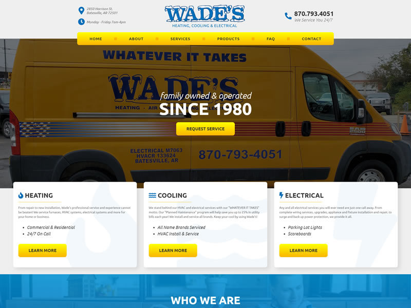 Wade's Heating, Cooling & Electrical